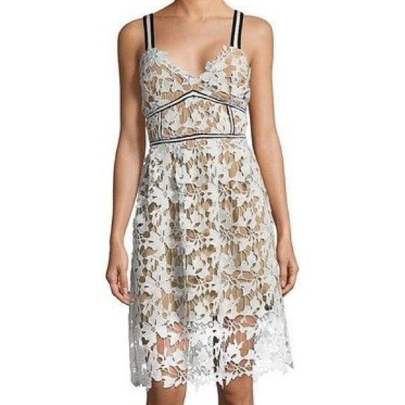 d9090d99ee845 NWT Design Lab Textured V-Neck Lace Dress Large. NWT. Design Lab Lord &  Taylor